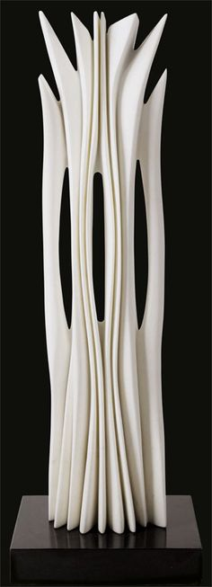 "Pablo Atchugarry  75 statuary carrara marble 44.5"" x 11 x 10.6"