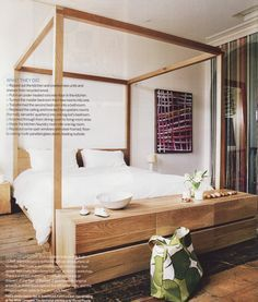The dresser at the end of the bed please! mark tuckey four poster bed