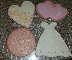 Vintage Bridal Shower Cookies, Cookie Wedding Favors