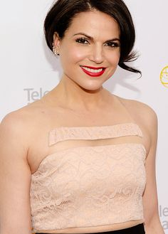 Lana Parrilla attends the 37th College Television Awards in Los Angeles, California - May 25th, 2016