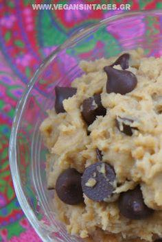 !Βίγκαν Συνταγές!: Cookie dough γλυκό σνακ (με ρεβίθια!)