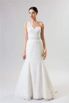 Junko Yoshioka Brioche one shoulder wedding dress