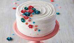 drop-flower-decorating-tip-cake Cake Icing Tips, Frosting Tips, Cake Decorating For Beginners, Cake Decorating Tips, Piping Frosting, Easy Minecraft Cake, Large Cupcake, Cupcake Tutorial, Frosting Techniques