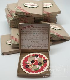 pin' Up! Stamping T! - Pizza Party Invitations