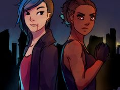 Maia and Lily by walkingnorth-art ...  maia roberts, lily, the mortal instruments