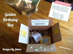 52 Weeks of Mail: Week 15- Golden Birthday Card & Box | Designs By ...