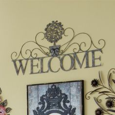 'Welcome' Metal Wall Art - Sears Canada Shopping, Online Furniture, Metal Wall Art, Welcome, Decor Styles, Mattress, Sweet Home, Stuff To Buy, Home Decor