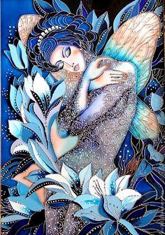 Buy 1 Get 1 Free Coupon Angel Spring Flowers Modern Cross Stitch Pattern Counted Cross Stitc Glass Painting Designs, Paint Designs, Stained Glass Paint, Beginner Painting, Modern Cross Stitch Patterns, Fairy Art, Silk Painting, Female Art, Fantasy Art