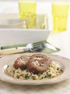 Το γεµιστό ρολό κιµά - www.olivemagazine.gr Greek Recipes, Greek Meals, No Cook Meals, Food And Drink, Beef, Cooking, Ethnic Recipes, Spring, Summer