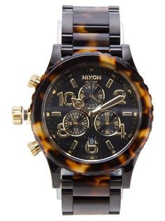 NIXON Steel Watch. I have been searching for an appropriate tortoise shell watch for men. Now I need to search for 350 dollars