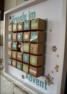 Providence is the greatest joy – that's why there is also an advent calendar for the children this year. We have some nice ideas … Christmas Calendar, Christmas Love, Christmas Deco, Christmas Crafts, Xmas, Advent Calenders, Diy Advent Calendar, Kids Calendar, Ramadan Decoration