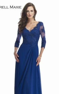 Beaded Lace Gown by Morrell Maxie 14870