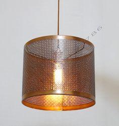 Large Industrial Copper Antique Metal Pendant Lamp by bluesky3786
