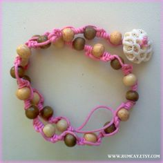 Beads and Knots Pink Double bracelet  Coral closure  by Rum Cay Island Jewelry