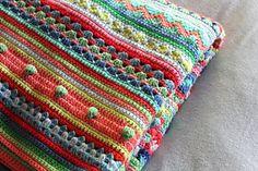 mixed stiich stripey blanket by Julie Harrison