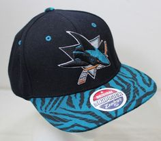 undefined San Jose Sharks, Nhl, Hockey, Black Snapback, Snap Backs, Sport, Hats, Boutique, Ebay