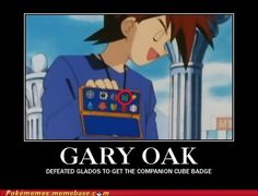 Gary Oak defeated GLADOS to get the Companion Cube Badge.