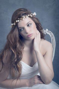 Bridal headpiece blossom. Floral wreath. by LenaRomHeadpieces