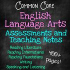 5th Grade Common Core English Language Arts/Literacy Assessments *ALL STANDARDS*   These are a COMPLETE year of Standards Based Assessments and tea...