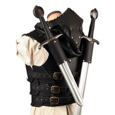 Articulated Scoundrel Armor (Torso) with Hood - LARP Leather Armour – Calimacil Viking Armor, Medieval Armor, Medieval Gown, Larp Armor, Armor Concept, Weapon Concept Art, Armor Clothing, Gypsy Clothing, Steampunk Clothing