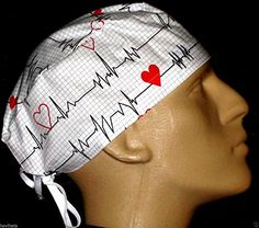cheap for discount 9f0ea b2c21 Anesthesia, EKG , ECG White Surgical Scrub Hat Hovihats.c…