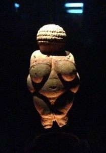 Venus of Willendorf is an ancient symbolic piece that is as easily understood today for her female attributes of fertility and mothering.