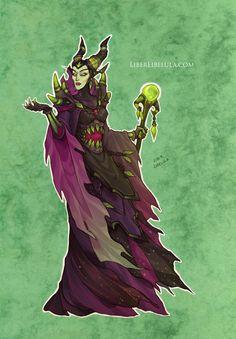 Disney meets Warcraft - Maleficent by LiberLibelula.deviantart.com on @DeviantArt