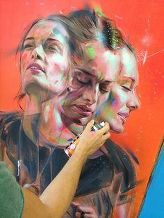 "Artist : Emanuele ""Rems 182"" Deviant Art, Different Kinds Of Art, Ap Studio Art, Identity Art, Portraits, Gcse Art, Street Art Graffiti, Cool Paintings, Art Portfolio"