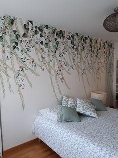 Bedroom Wallpaper, Wallpaper Ideas, Weeping Willow, Scandinavian Bedroom, Bedroom Vintage, New Kids, Chinoiserie, Wall Murals, Lush