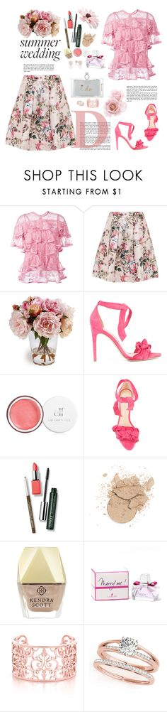 """""""I Do: Summer Wedding"""" by ellie366 ❤ liked on Polyvore featuring Elie Saab, Ted Baker, Alexandre Birman, Clinique, Kendra Scott, Lanvin, Charlotte Olympia, Heels, summerwedding and midiskirt"""