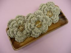 BOWL FILLERS Flowers Tan Beige  Set of 3 by CraftCreationsEtsy