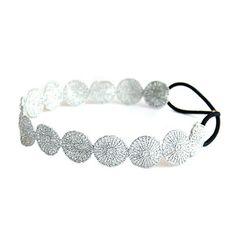 Glitter Silver Circle Lace Headwrap Oriental Headband | eBay