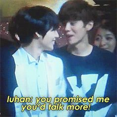 Daaaw xiuhan! Luhan trying to get xiumin to talk more wait.... what's Taemin doing there?