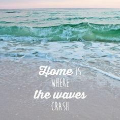 Home is where the waves crash. emeraldcoasting.com Ocean Beach, Ocean Waves, Fl Girls, Navarre Beach, Beach Quotes, Beach Sayings, Coastal Cottage, Panama City Panama, Beach Cottages