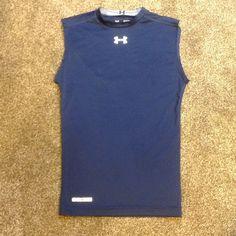 Under Armour Heatgear compression Shirt Under Armour Heatgear compression Shirt Navy Size Medium 84% polyester/16% Elastane Under Armour Tops