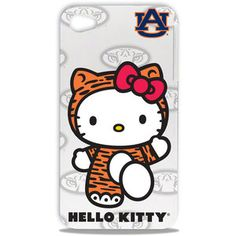 Love it!!! I want it!!    NCAA - Auburn Tigers Hello Kitty iPhone 4/4S Hard Shell Case