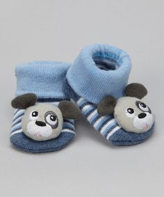 Take a look at this Blue Puppy Booties by Tic Tac Toe on #zulily today!