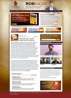 Rob Eagar's new website and blog featuring numerous success stories, free resources, and helpful products for authors, business owners, and non-profits. http://www.startawildfire.com