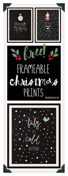 Super cute, fun and FREE Christmas frameable artwork! Three frameable prints, perfect for the holidays. Plus, you can use them as your phone wallpaper! Christmas Signs, Winter Christmas, Christmas Holidays, Christmas Decorations, Christmas Nativity, Christmas Poster, Christmas Centerpieces, Merry Christmas, Christmas Projects