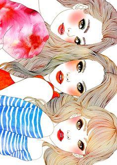 .girls n illustrations so cute