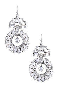 Swarovski Crystal Circular Statement Drop Earrings by Beautiful Baubles: Ben-Amun Exclusives on @HauteLook