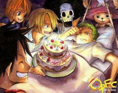 birthday, brook, chopper, nami, one piece, roronoa zoro, sanji, strawhats, monkey d luffy, mugiwara