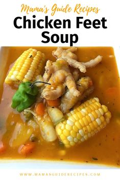 This Chicken Feet soup or Chicken Foot Filipino Soup is the best soup you'll ever taste. This is not just your ordinary soup, because chicken feet consists of tendons, Jamaican Soup, Jamaican Chicken Soup, Jamaican Dishes, Jamaican Recipes, Filipino Recipes, Chicken Feet Recipe Slow Cooker, Chicken Foot Soup Recipe, Chicken Wing Recipes, Trinidad Soup Recipe