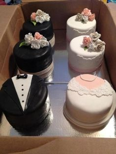 Bride & Groom engagement cakes By kkforster on CakeCentral.com