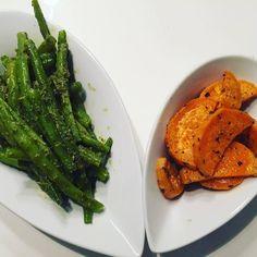 Aspargos e batata doce.  Alimentação saudável sempre!  #reeducacaoalimentar #alimentaçãosaudável #alimentacaofuncional #fitness #batatadoce #emagrecer #emagrecimento #qualidadedevida #healthylifestyle #vegana #coachdesaude #janainavonmoos