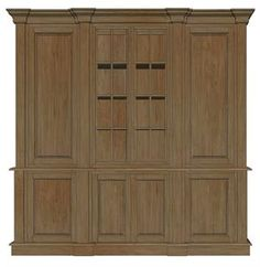 French country wall cabinet in carved salvage teak, ideal for media.