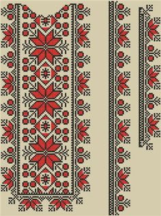 Cross Stitch Borders, Cross Stitch Flowers, Cross Stitch Designs, Cross Stitching, Cross Stitch Patterns, Hardanger Embroidery, Embroidery Motifs, Cross Stitch Embroidery, Swedish Weaving Patterns