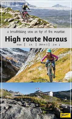 You'll find one of the best views of Flims, Switzerland, on the high route trail Naraus. Mountain High, Mountain Biking, Seen, Nice View, Switzerland, Trail, Bike, Explore, Adventure