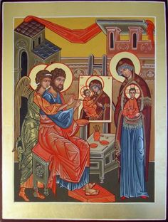 St. Luke painting the first icon by Liesbeth Smulders