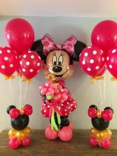 PC – Balloons with Helium included in the price: Column Minnie mouse ( 6 ft) and 2 bouquets . Color to choose. Minnie Mouse Birthday Decorations, Minnie Mouse Party Decorations, Minnie Mouse First Birthday, Minnie Mouse Baby Shower, Mickey Mouse Parties, Balloon Decorations Party, Mickey Party, Mickey Mouse Birthday, 2nd Birthday